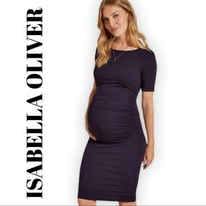 ISABELLA OLIVER Rouched T Shirt Maternity Dress 2